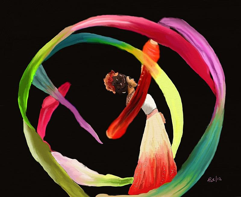 Chinese Ribbon Dancer